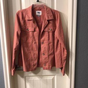 Pink denim jacket NWOT